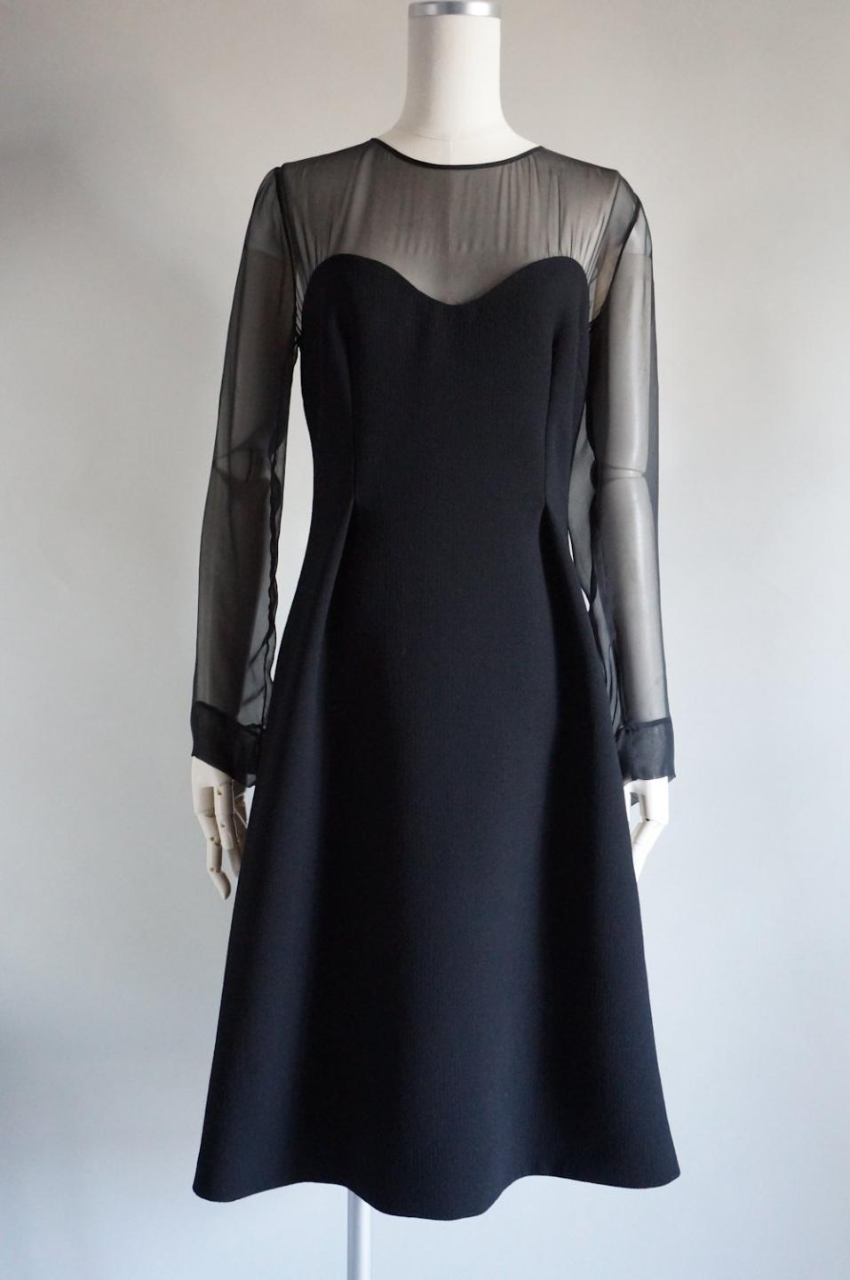 プラダ シフォンロングスリーブドレス