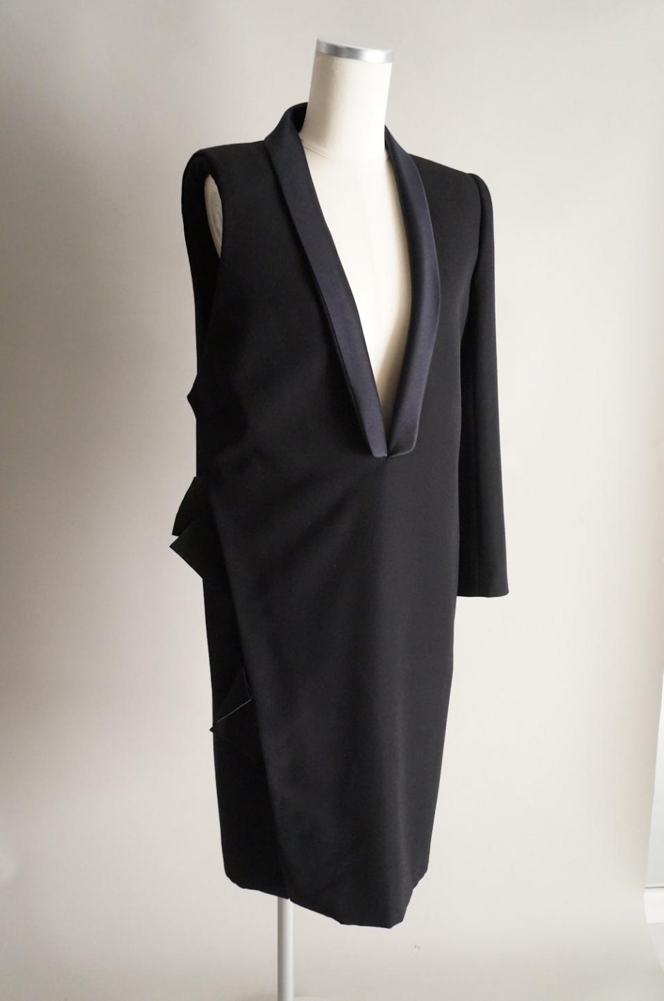 ランバン 片袖タキシードジャケットドレス